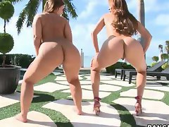 Big asses Monique Fuentes & Lexi Lockhart. Monique Fuentes is like and aged fine wine she just keeps getting better the older she gets. Lexi Lockhart is rockin and rolling with her giant tits and ass which make watching her fuck extra special