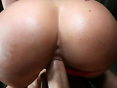 Big booty Charley Chase rides a huge cock