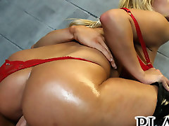 Stacked blonde Shyla gets fucked hard in a jail cell