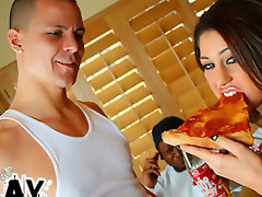 Smokin hot Latina Britney Stevens fucks a couple gangsters