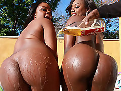 Delicious black hoes with massive butts get some proper fucking
