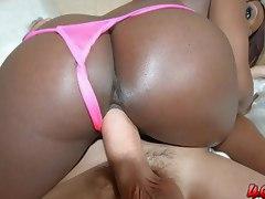 Jada Fire gets her big black ass 40 oz bounced