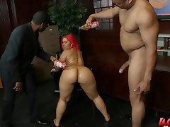 Pinky gets her tight pussy and ass pounded without mercy