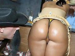 Big booty slut Ricki White bounces her huge ass on a big cock