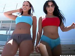 Huge butts movie -  Rachel Starr and Abella Anderson shows us what big ass shaking is all about