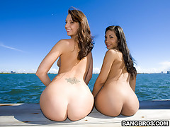Fat asses of Ana and Katie Jordin. Ana's a petite thing, with the killer Puerto Rican and Colombian mix!!! With mean ass for days, and she was everything and then some. Now Katie Jordin...this girl had a killer figure, long legs, fat ass, sexy tits, and a