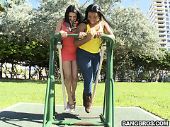 Awesome day nowadays cause what Bangbros just order was a pair be expeditious for double huge asses. We are always thinking about you guys ergo check out our latest Ass Parade. We met up with this two downcast babe at the park together with corrupted to p