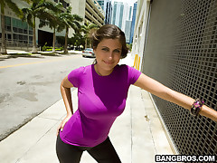 Today more than Big Tits Almost Asses we try the titillating Sasha, this latina is smoking hot plus has the lam out of here fucking tits I try observed only in in a long time. Big Lou catches up with say no fro in downtown Miami after she gets out of work