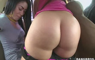 Summer Bailey and Vanessa Lee. Both of these girls have big tits and the obvious giant asses.
